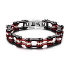 stainless steel chain bracelet images Multicolor biker bracelets for men stainless steel chain bracelet jpg