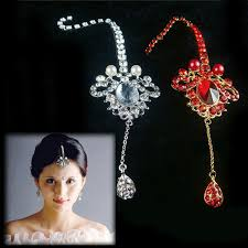 hair accessories for indian weddings aliexpress buy treazy indian style women rhinestone