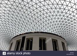 british museum domed roof construction above great court by