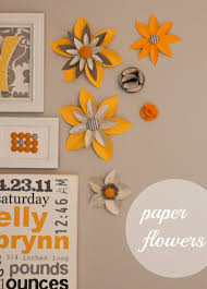 paper flower wall simply simple flower wall art home decor ideas
