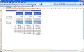 Amortization Calculator Spreadsheet Net Present Value Calculator Excel Templates