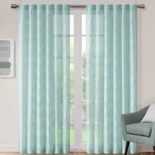 Sheer Teal Curtains Modern Contemporary Teal Curtains And Drapes Allmodern