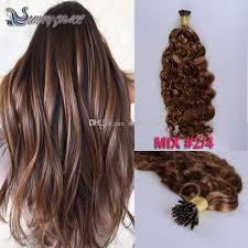 i tip hair extensions 20inch pre bonded i tip hair extension human hair weaves mix color