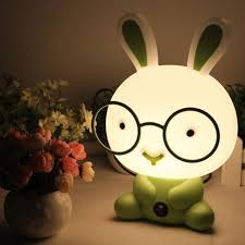 best light for sleep cute baby room wearing glasses rabbit cartoon night sleeping light