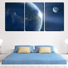 Earth Home Decor by Online Get Cheap Earth Moon Painting Aliexpress Com Alibaba Group