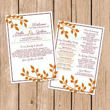 fall wedding programs 71 best our wedding images on wedding ceremonies
