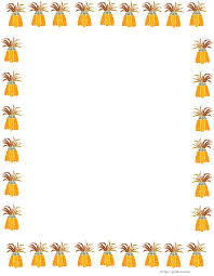 happy thanksgiving border paper stationery 2 gclipart