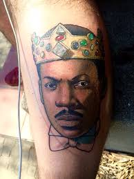 new eddie murphy piece done by danny meza at mission tattoo in