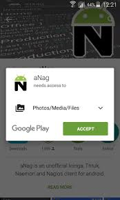 anag nagios client for android devices configuration and usage