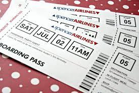 Boarding Pass Wedding Invitation Card Ticket Invitation Template