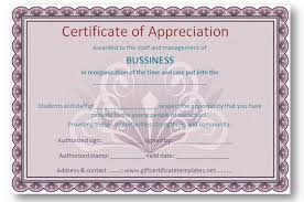 employee appreciation certificate templates free certificate