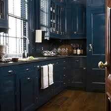 Lacquered Kitchen Cabinets Blue Lacquer Kitchen Cabinets With Blue Beadboard Trim Backsplash