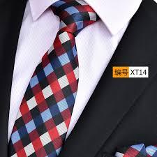 wide tie ninirusi blue plaid paisley 3 15 polyester silk jacquard wide tie