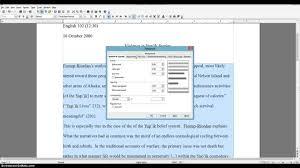 Mla Essay Format Template Mla Formatting Open Office Youtube