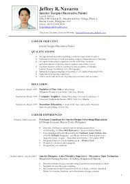Sample Career Objective For Teachers Resume by Resume For Fashion Designer Job Free Resume Example And Writing