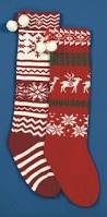 knitted christmas stocking send me a christmas tree