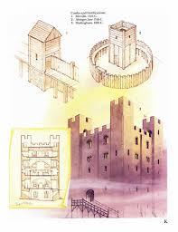 Medieval Castle Floor Plan Norman Castle Castillos Pinterest Norman Castles And