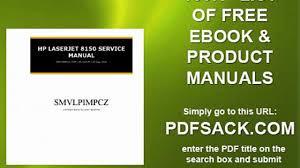 hp laserjet 8150 service manual video dailymotion