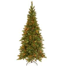 national tree company 7 1 2 ft slim fir hinged artificial