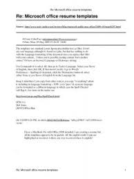Microsoft Office Word 2007 Resume Templates Resume Template Free 6 Microsoft Word Doc Professional Job And