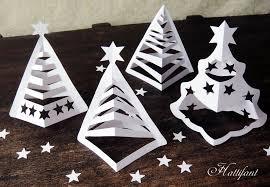 Christmas Cutout Decorations Hattifant U0027s 3d Paper Christmas Trees Hattifant
