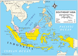 Indonesia On World Map Map Of Asia Indonesia You Can See A Map Of Many Places On The
