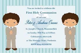 communion invitations for boys personalised communion invitations boy new design 2