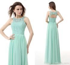 mint green lace and chiffon evening dresses cheap key hole