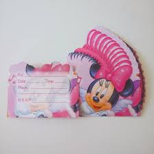 Minnie Mouse Invitation Card Online Buy Wholesale Minnie Party Invitation From China Minnie