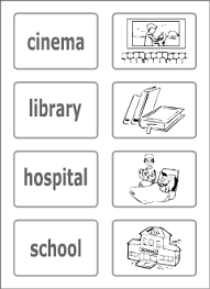 town vocabulary for kids learning english printable resources