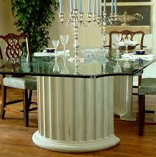 crescent dining table planters cast urns