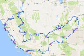 Redding California Map Road Trip Usa