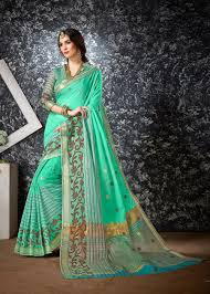 cocktail party wear saree buy online ontario b town green cotton