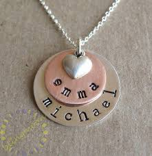 personalized necklace charms personalized initial necklace sterling silver charms sted