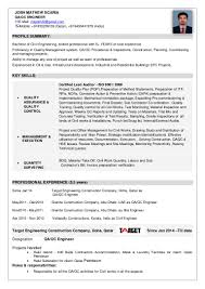 Sample Resume For Experienced Civil Engineer by Qa Qc Civil Engineer Resume Sample Contegri Com