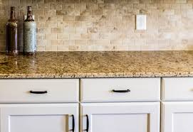 countertops granite countertop and tile backsplash kitchen