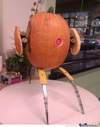 Meme Pumpkin Carving - epic portal turret pumpkin carving by rofilms meme center