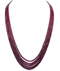 natural beads necklace images Natural ruby beads necklace with 925 sterling silver claps at rs jpg