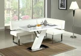 Modern Dining Room Table Set All White Modern L Shaped Breakfast Room L