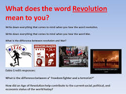 revolution or war by don bierschbach what does the word