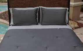 Houndstooth Comforter Solid Slate Comforter U0026 Shams Thread Experiment