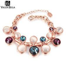 rose crystal bracelet images Valen bela new opal austrian crystal bracelet fashion charms rose jpg