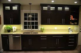 Strip Kitchen Cabinets | kitchen cabinet lighting using warm white led strip lights plus gray