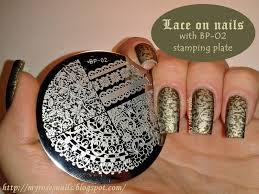 dark green lace stamping nails http myrosesnails blogspot com