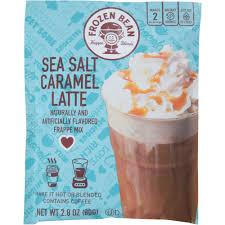 frozen bean sea salt caramel latte frappe mix 2 8 oz walmart com