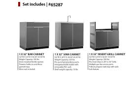 NewAge Products W X D  PC Outdoor Kitchen Aluminum With Sink - Outdoor kitchen sink cabinet