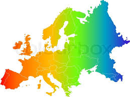 map europe vector abstract europe color vector map on white stock vector colourbox