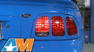 96 98 mustang tail lights mustang raxiom sequential tail light kit plug and play 1996 2004