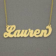 14kt gold name necklace 10kt 14kt gold personalized conrad name necklace inspired