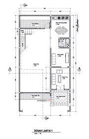 layout denah cafe desain rumah dan ruang usaha ruko rukan 2 lantai pt